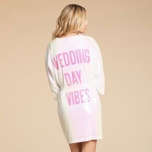 """Hayley Paige """"Wedding Day Vibes"""" Sequin Robe (New)"""